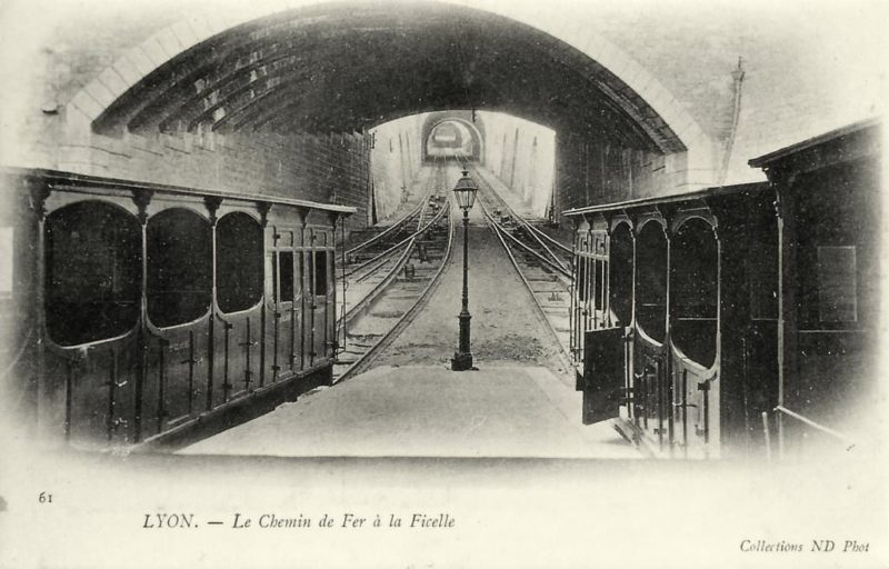 The old funicular of Lyon at Terme Street.