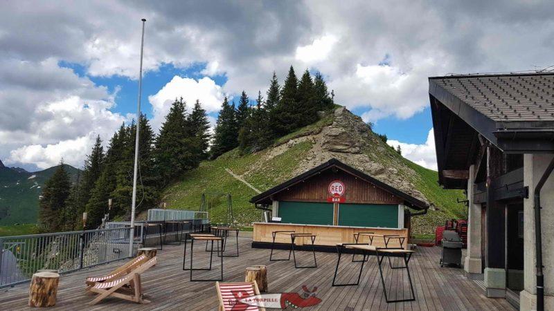 Le sommet la Croix de Culet à l'arrivée du télécabine.
