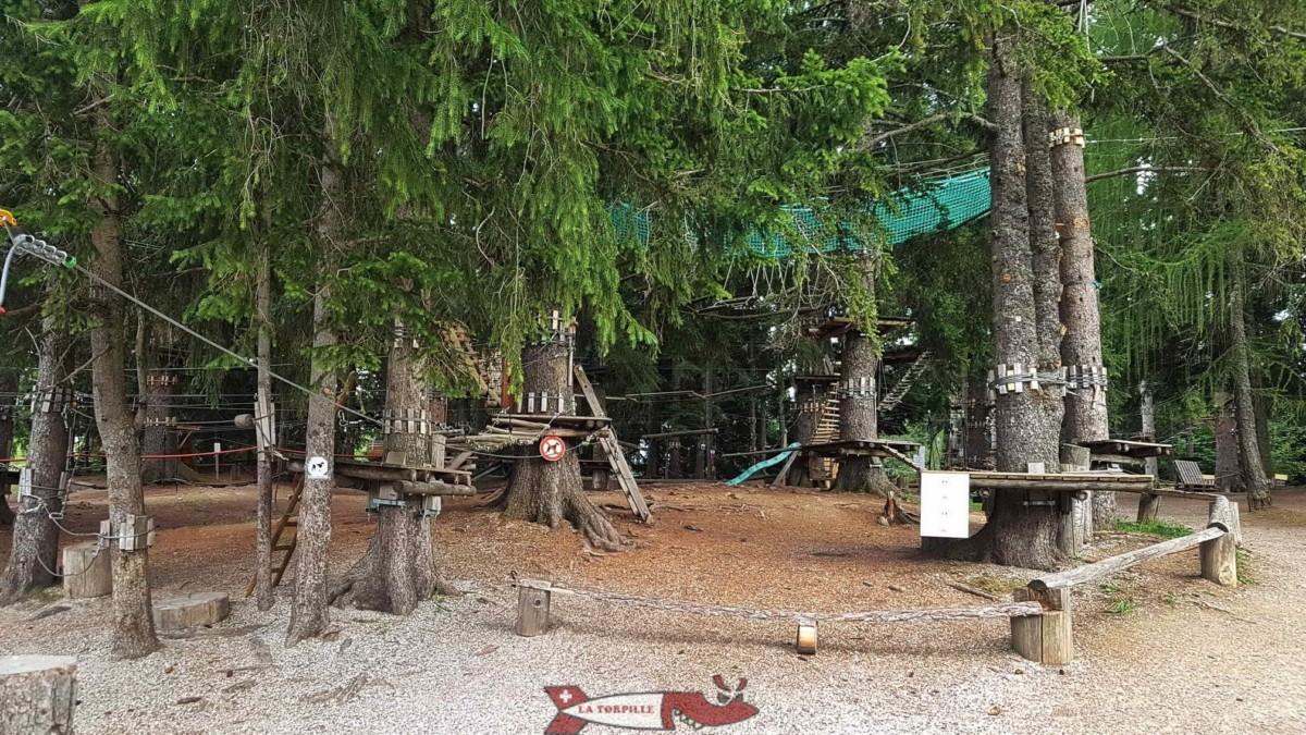 L'accrobranche Fun Forest prêt de la réception.