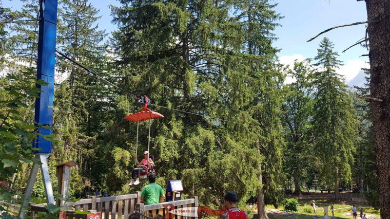 Le Ski Dive, une sorte de télésiège se déplaçant sur un trentaine de mètres.