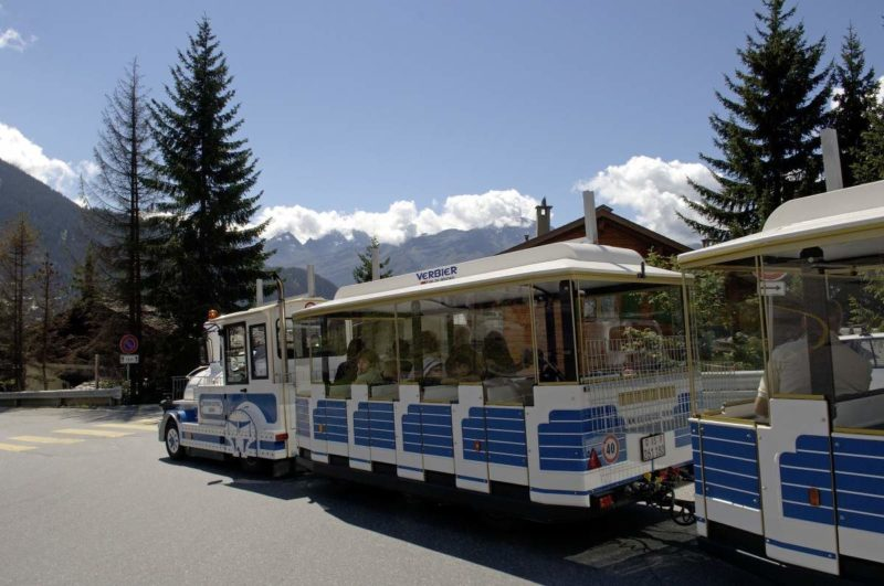 The little train of Verbier.