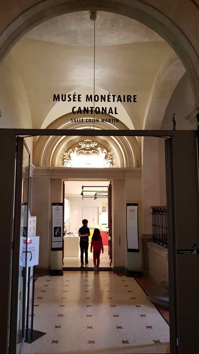 L'entrée du musée monétaire.