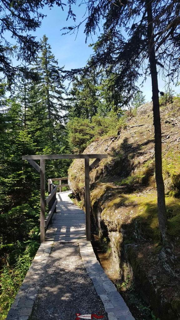 Le portail marquant le début du chemin le long du bisse.