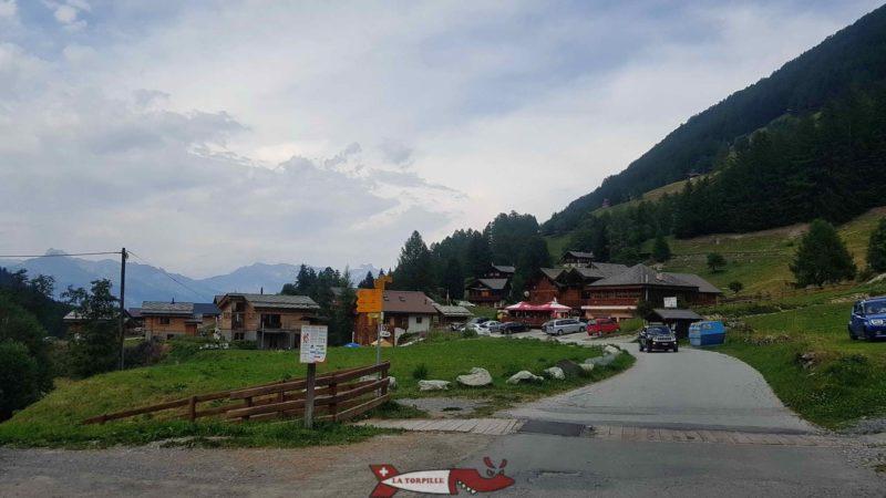 Le hameau de Planchouet.