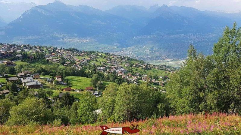 Une vue sur le village de Nendaz.