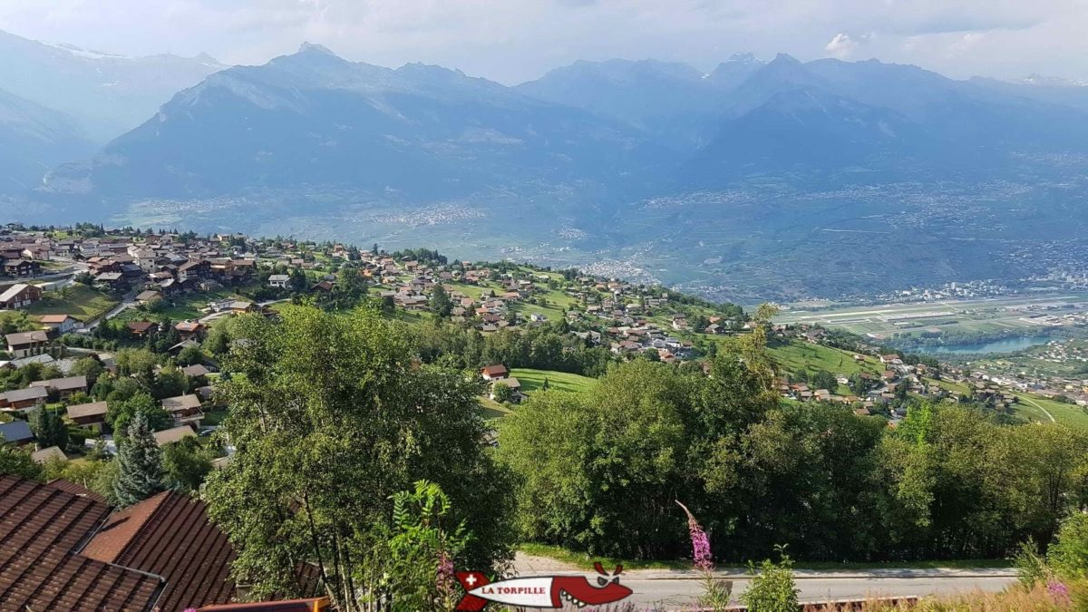 The many chalets of Nendaz are built on old crops and orchards.