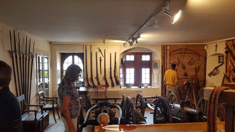 La première salle du musée.