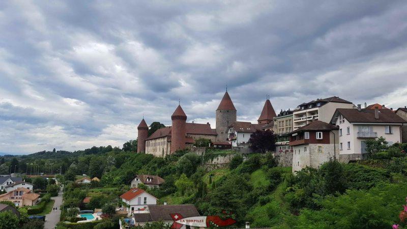 Le château de Chenaux à Estavayer-le-Lac.