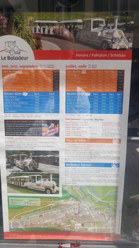 The Baladeur schedule in 2019.