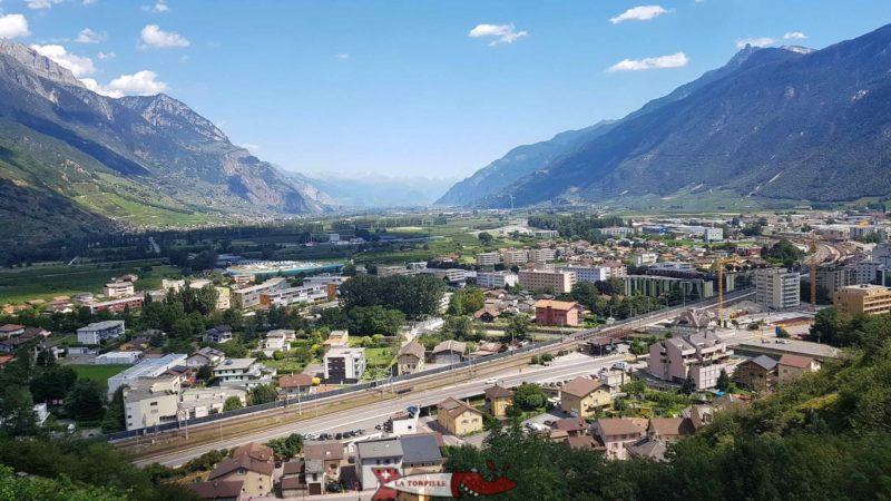 La vallée du Rhône au niveau du Valais central.