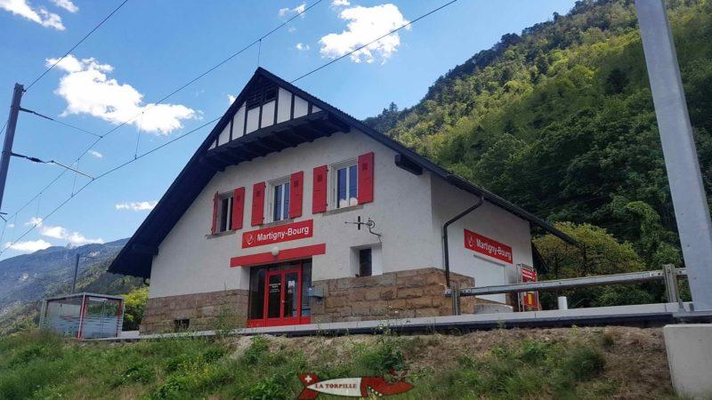 La gare de Martigny-Bourg.