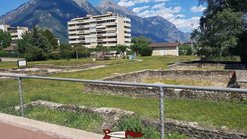 Des ruines romaines.
