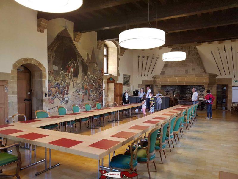 Salle des chevaliers chateau de neuchâtel