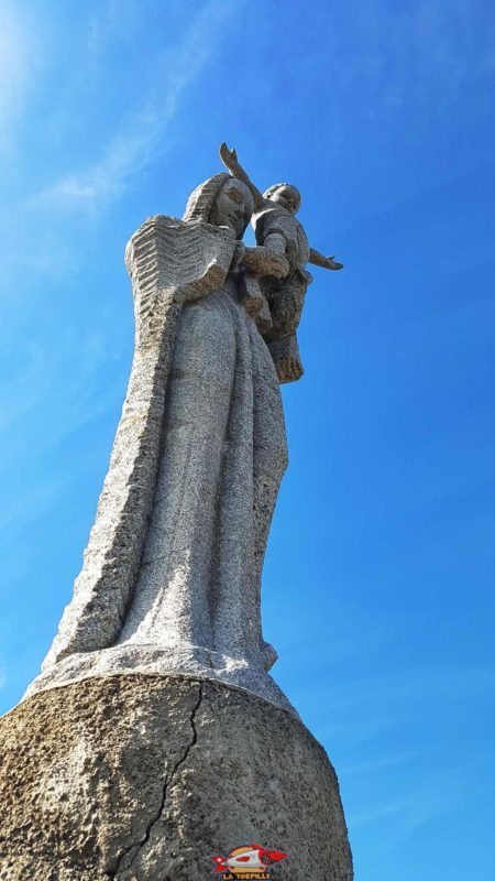 The statue of Notre-Dame de Mont d'Orge at the western end of the hill top where a tower of the old castle stood.