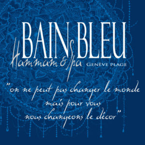 logo bain bleu hammam spa genève plage