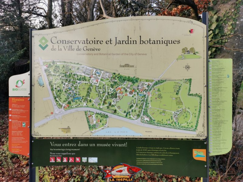 Le plan du parc botanique.