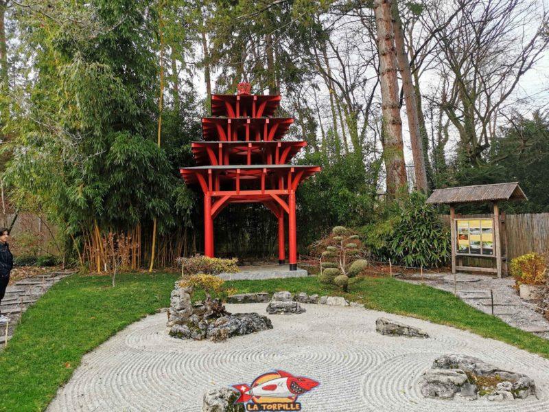 Un espace japonais. jardin botanique geneve