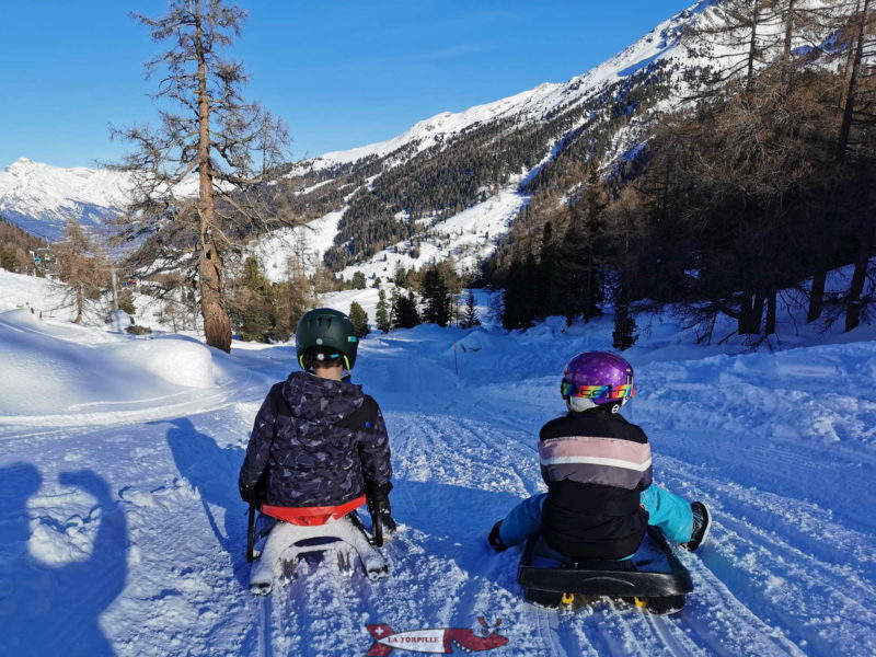 In winter, the Nendaz toboggan run is quickly in the shade from the middle of the afternoon.