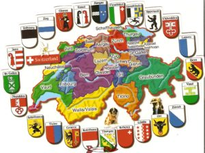The current map of the Swiss cantons.