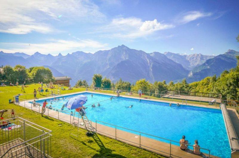 piscine plein air nendaz