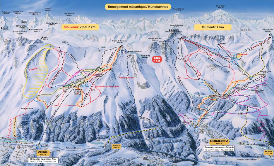 carte domaine skiable chandolin saint-luc