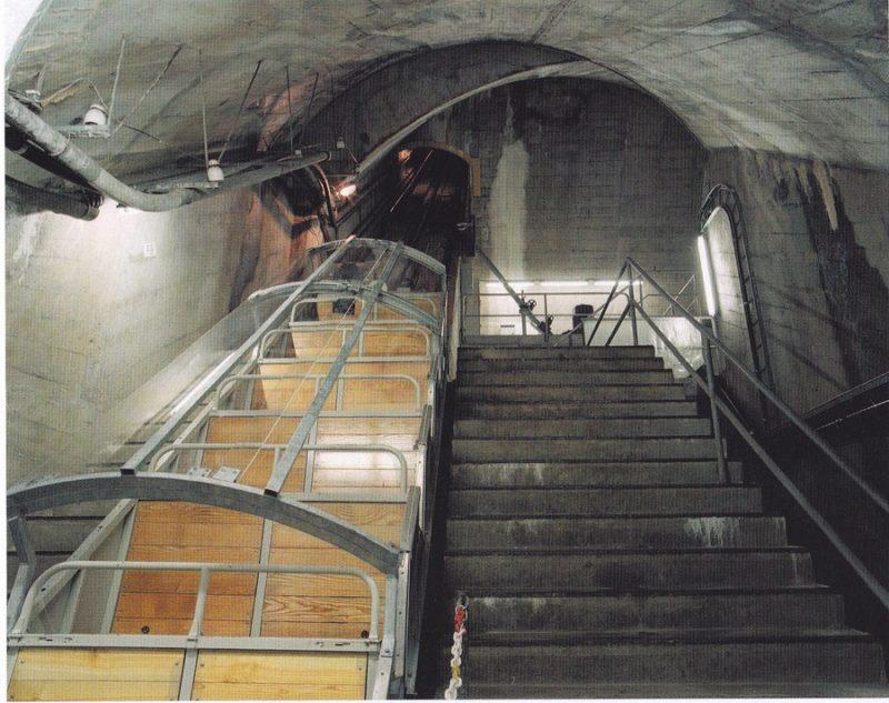 The funicular at Savatan station.