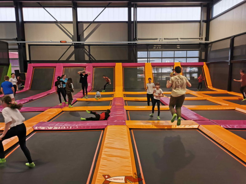 Trampolines at Jumpland.