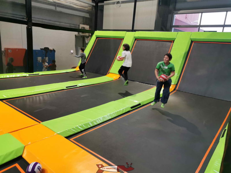 The dodgeball area at Jumpland.
