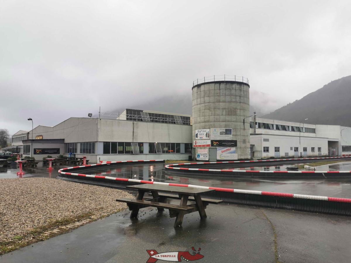 Le karting de Vuiteboeuf près d'Yverdon. C'est le karting le plus ancien de Suisse romande ouvert au public.