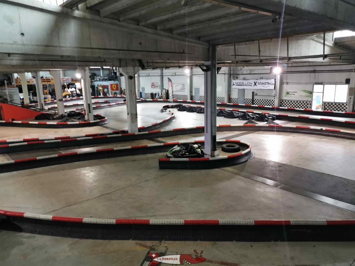 La piste intérieure du karting de Vuiteboeuf.