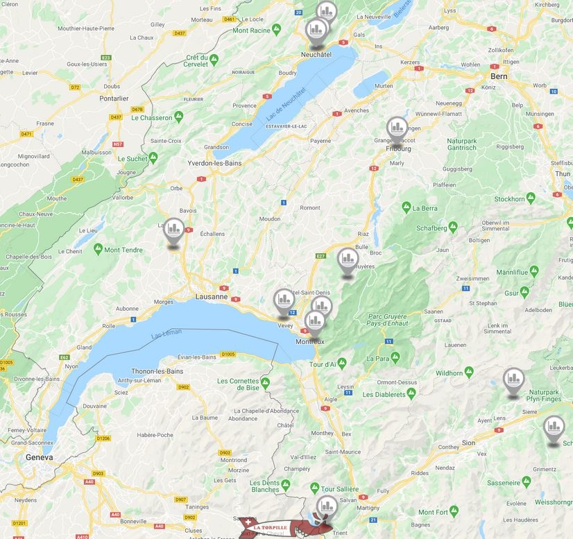 map funiculars western switzerland