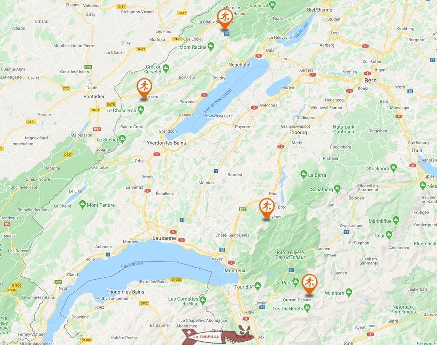 carte luge été suisse romande