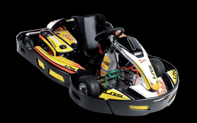 Un karting électrique de 200 cm3.