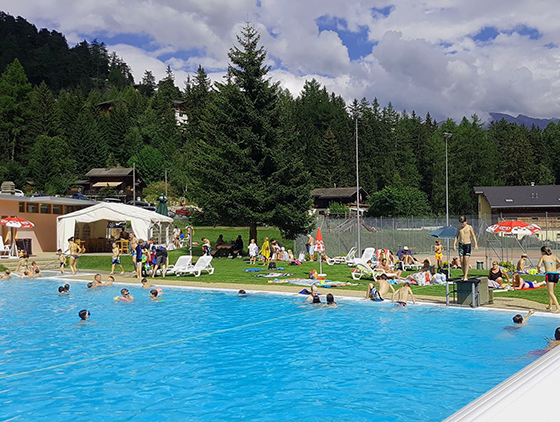 Champex-Lac: Piscine plein air