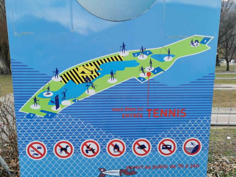 Une vue d'ensemble des activités du domaine des Îles de Sion.. domaine des iles de Sion.