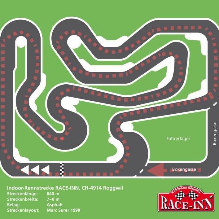 Le parcours du karting de Roggwil.