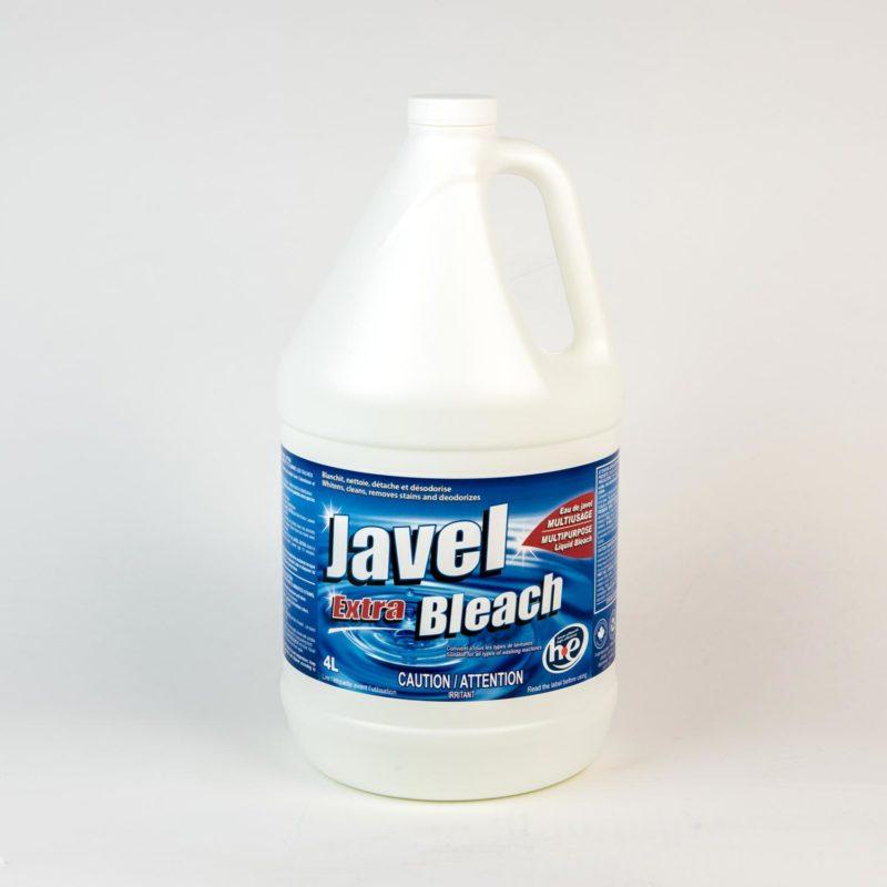 Une bouteille d'eau de Javel.