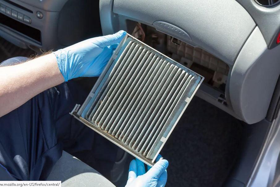 Le filtre d'habitation d'un vehicule