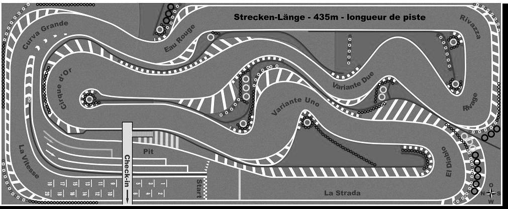 Le parcours du karting de Muntelier.