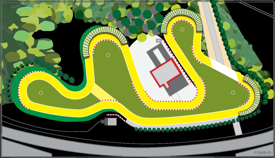 Le parcours du karting de Lyss.