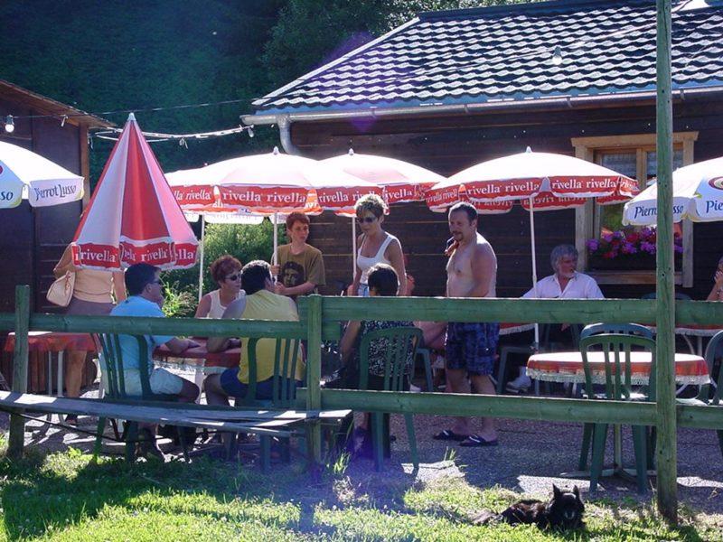 La buvette du minigolf de Fribourg.