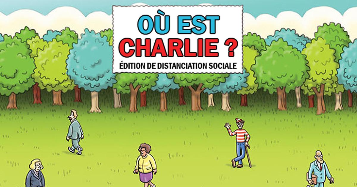 """Une illustration humoristique du célèbre """"Où est Charlie ?""""."""