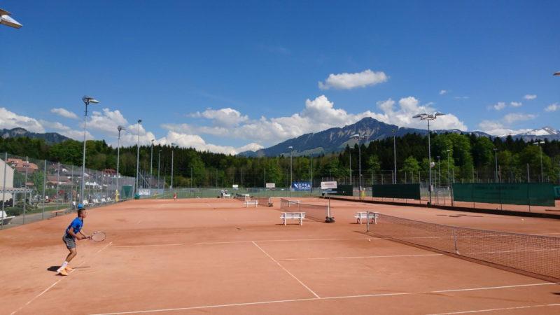 Le tennis extérieur.