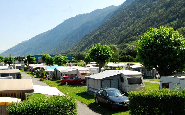 Le camping de Martigny.