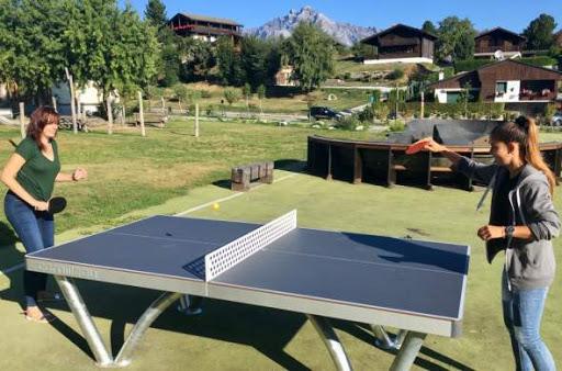 Table de ping pong.