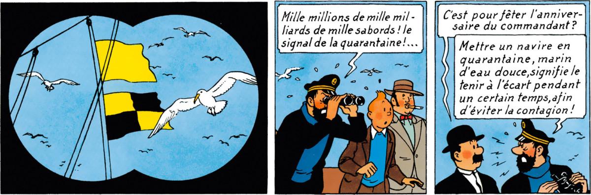 Un fameux passage de la bande dessinées en rapport avec la quarantaine.