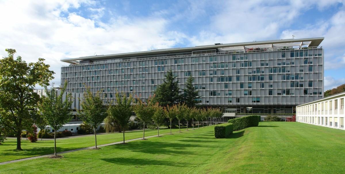 Le siège de l'OMS dans le canton de Genève en Suisse.