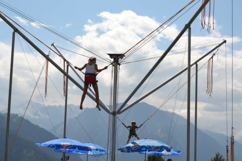 Les trampolines géants