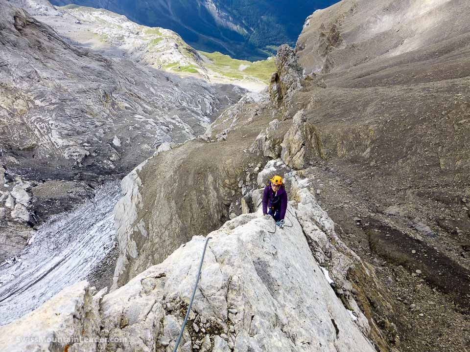 "La Via Ferrata ""Dames Anglaises""."