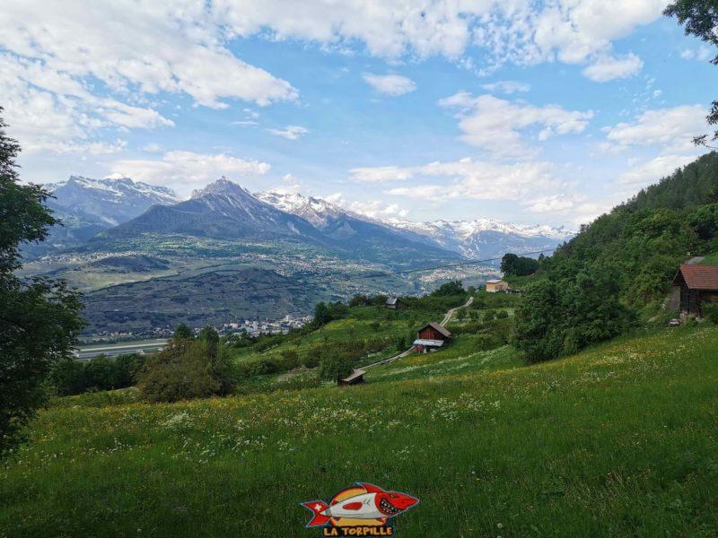 La vue sur la vallée du Rhône.